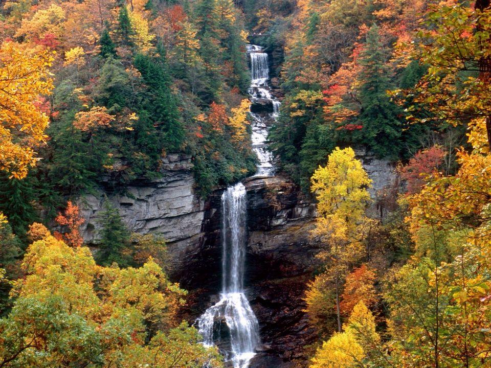 Raven Cliff Falls near Caesars Head SC Waterfalls