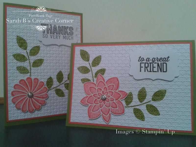 Crazy about these flowers by Sarah B - Cards and Paper Crafts at Splitcoaststampers