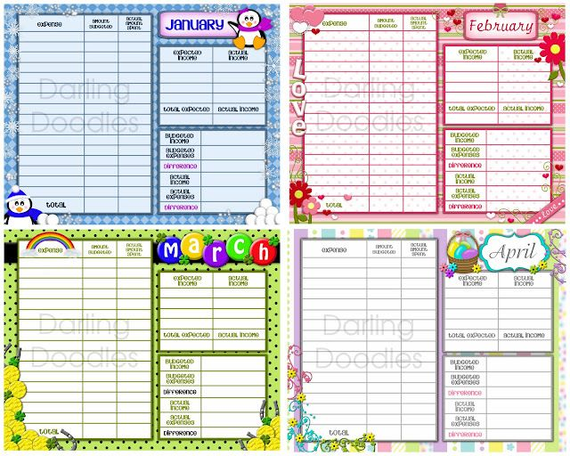 budget worksheets - can be purchased on ETSY Office/Life