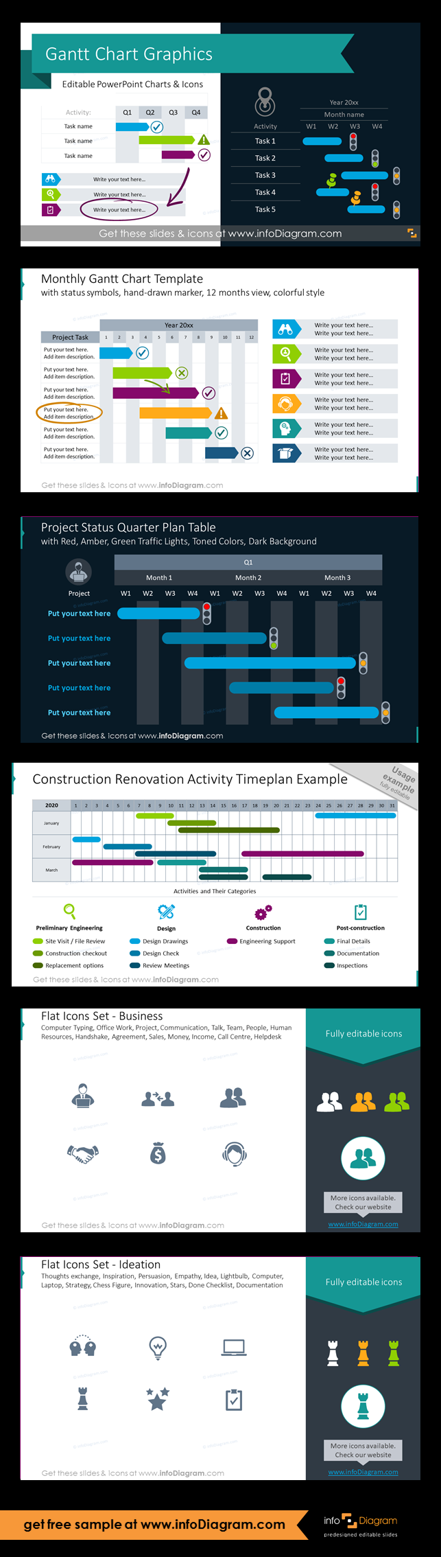 Gantt Chart Graphics for Project Planning