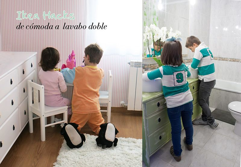 Ikea Hacks: De cómoda a lavabo doble para el baño | Decorar en familia | DEF Deco