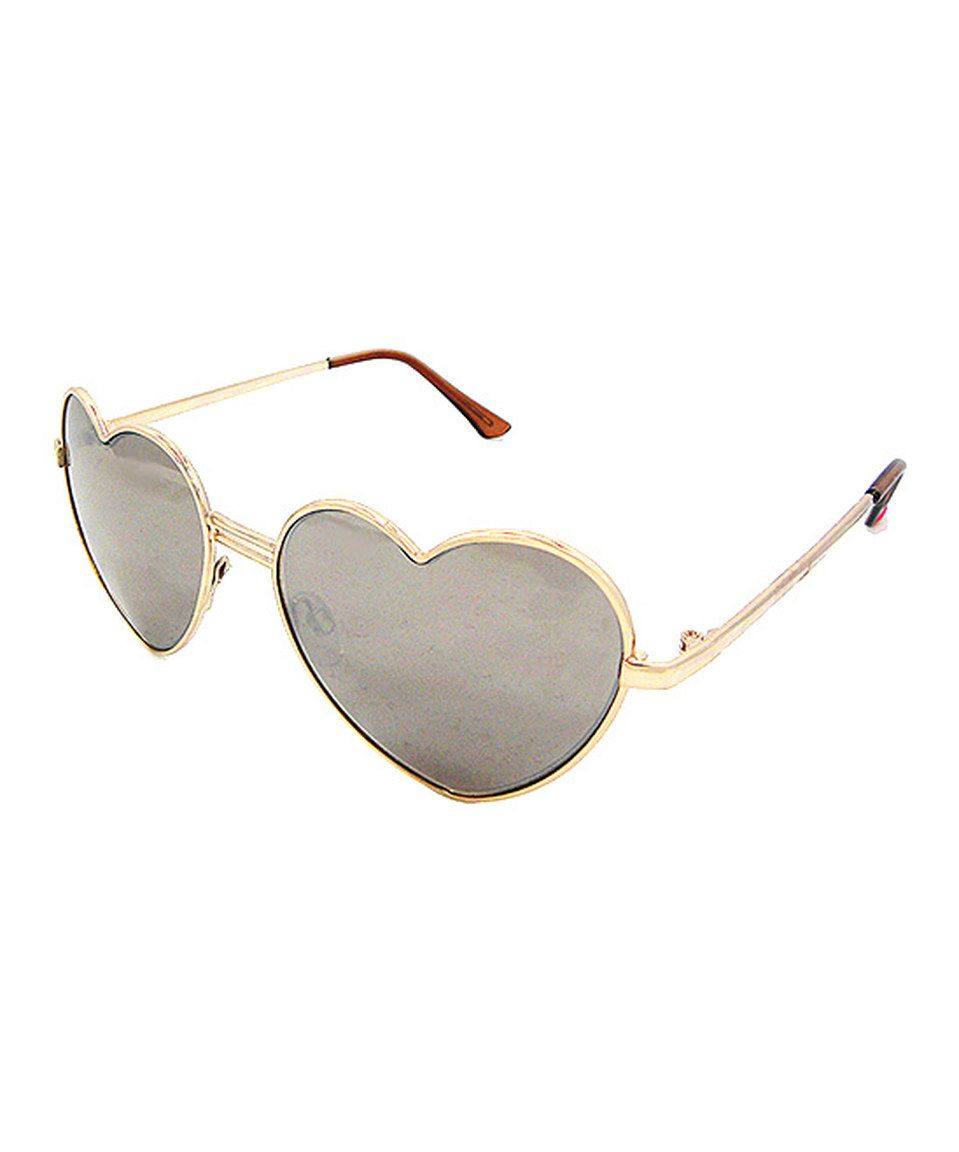 6abc3ca72b9 Love this Betsey Johnson Bronze Hearts Aviator Sunglasses by Betsey Johnson  on  zulily!  zulilyfinds