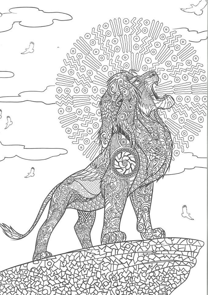 Mandalas Animal Adult Coloring Book Disney Coloring Pages