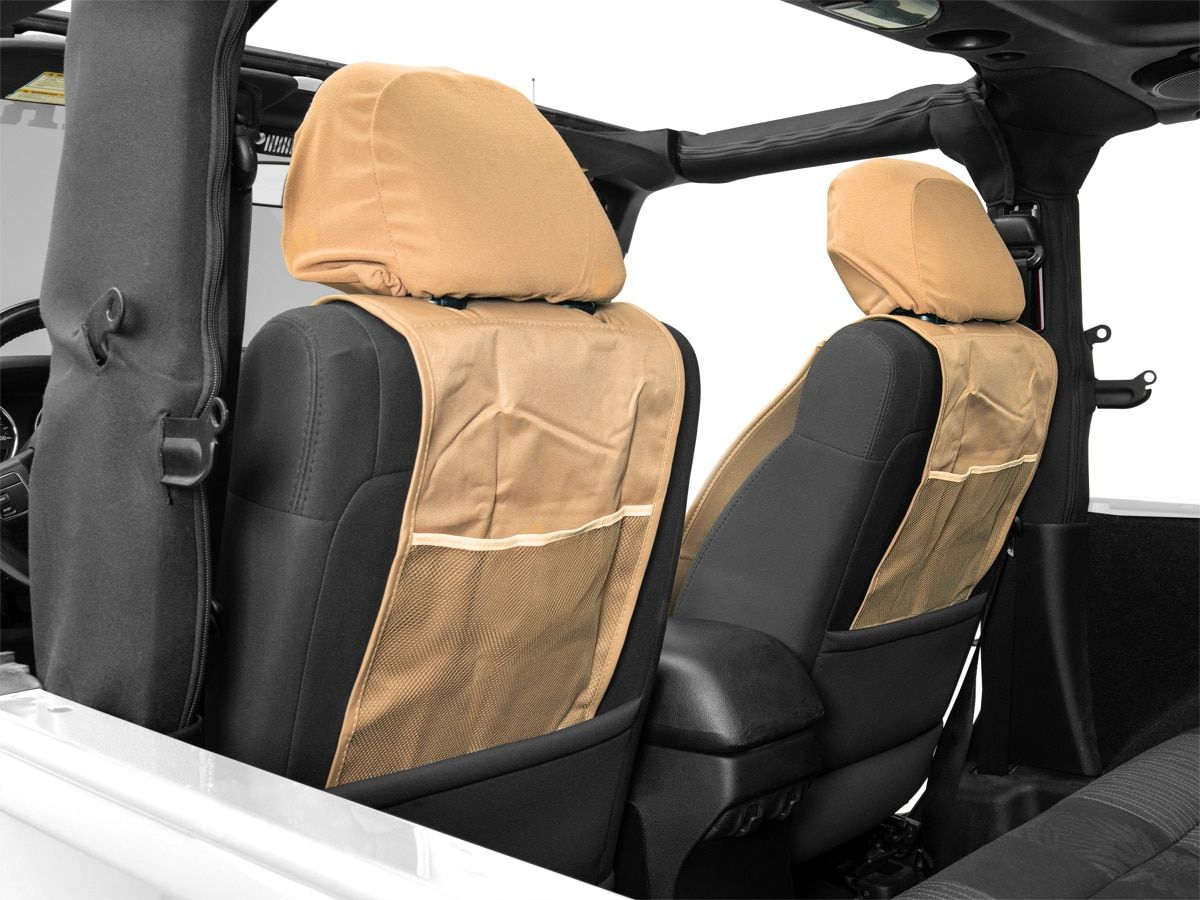 Alterum Jeep Logo Sideless Seat Cover; Tan (8720 Jeep