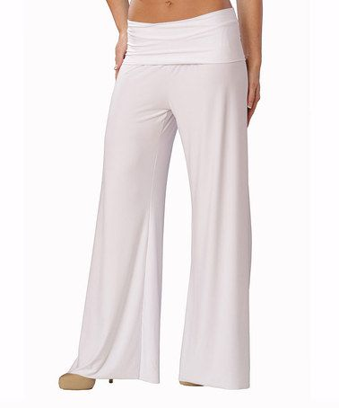 Another great find on #zulily! White Lounge Pants by Chilly Jilly #zulilyfinds