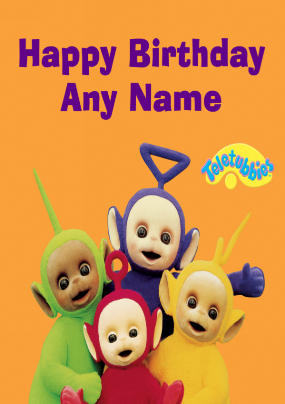 Teletubbies Personalised Childrens Birthday Card In 2018 Tylers