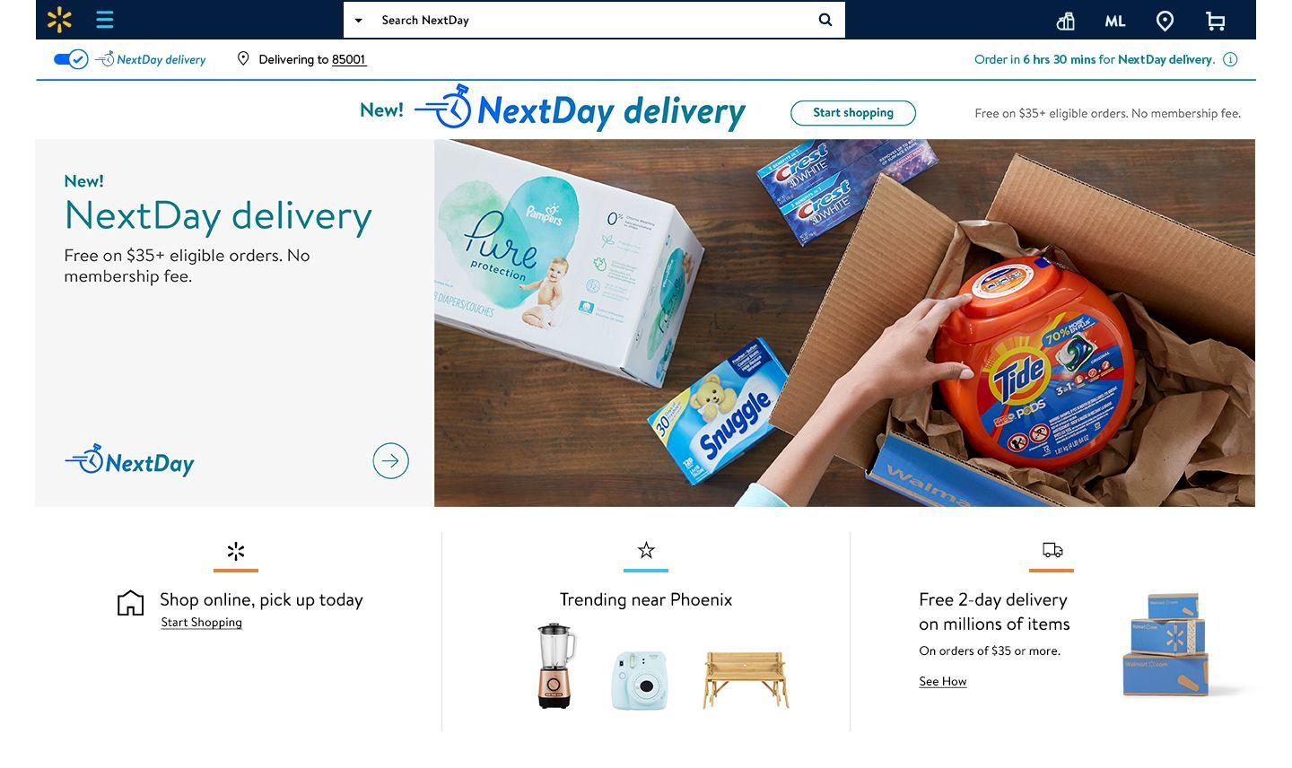 Walmart Announces Next Day Delivery Firing Back At Amazon Helpful Hints Bounty Paper Towels Delivery Groceries