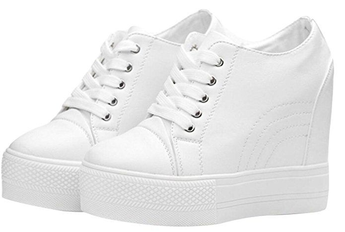 fea86262a332 ACE SHOCK Wedges Sneakers for Women White