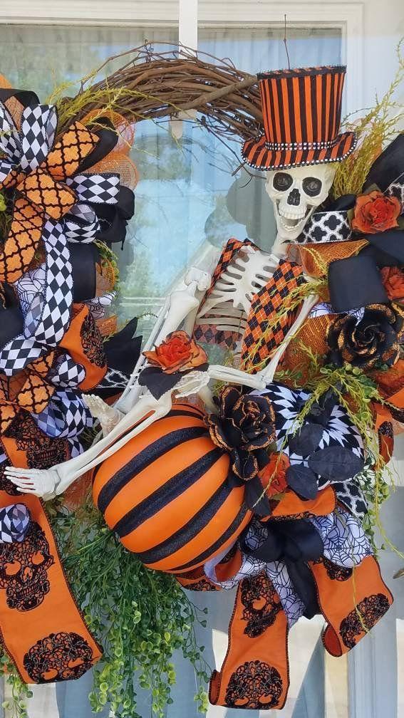 Halloween Wreath Skeleton Wreath Halloween Decorationhalloween