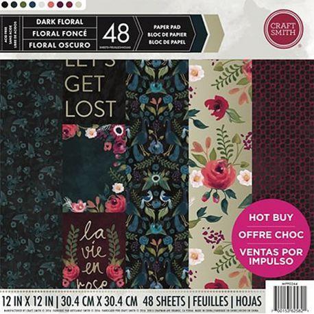 Bloc De Cartulinas Para Scrapbooking Dark Floral Craft Smith Paper Pads Dark Floral Floral