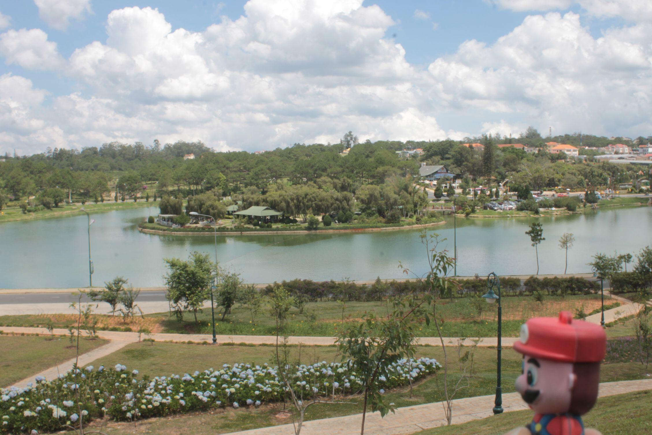 En el lago de Dalat
