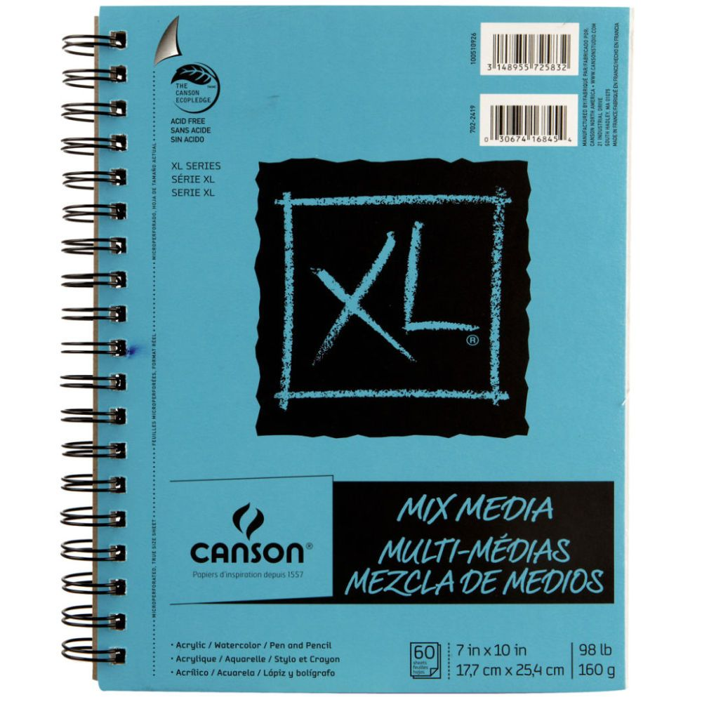 Canson Xl Mix Media Pad Mixed Media Marker Paper Canson