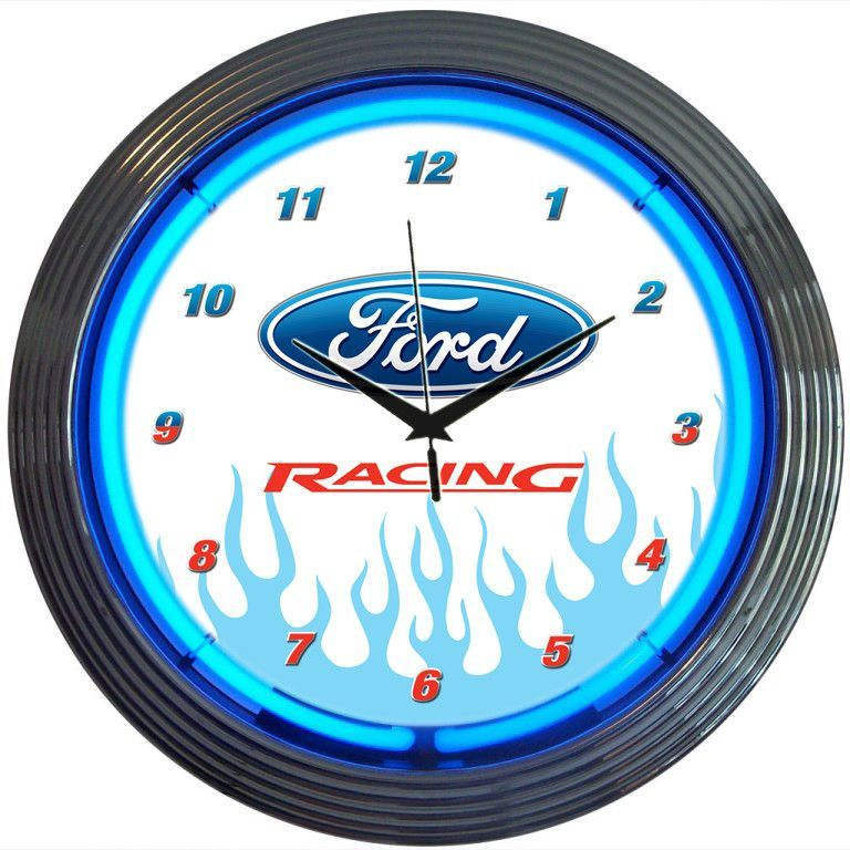 Ford Racing Neon Clock   FOrD..U.S.A   Pinterest