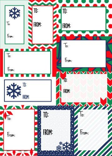200 Sticker Pack To From Christmas Labels Christmas Bold To From