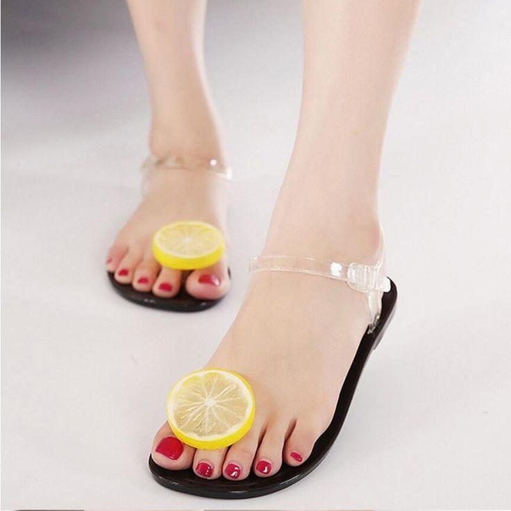 03262e40f7ca Women 2017 Sandalias Mujer Fruit Flip Flops Jelly  Sandals  Shoes Girls  Summer Flat Beach  Sandals Flip Flops for just  7.81