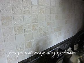 Easy And Inexpensive Kitchen Backsplash For The Casa