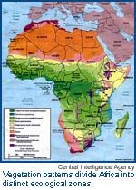 Natural vegetation map of Africa | History African | Africa map