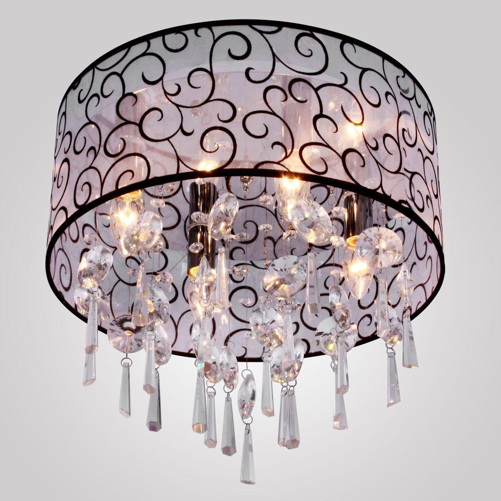 New Modern Drum Crystal Ceiling Light Pendant Lamp Fixture Lighting Chandelier in Home & Garden, Lamps, Lighting & Ceiling Fans, Chandeliers & Ceiling Fixtures   eBay