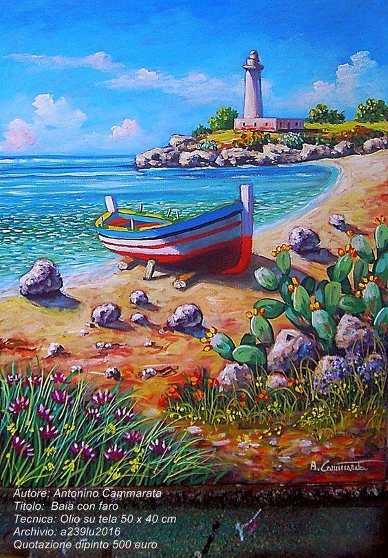 paesaggio dipinto marina  quadri dipinti marine quadri paesaggi su tela paesaggi ad olio