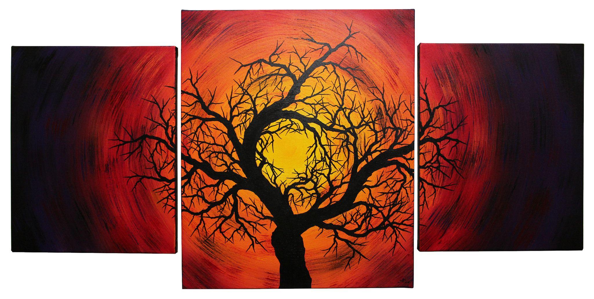 Silhouette d'arbre noir | Arbres peints, Peinture, Arbre sculpture