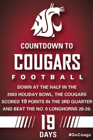 Countdown to Cougars Football - 19 Days #GoCougs