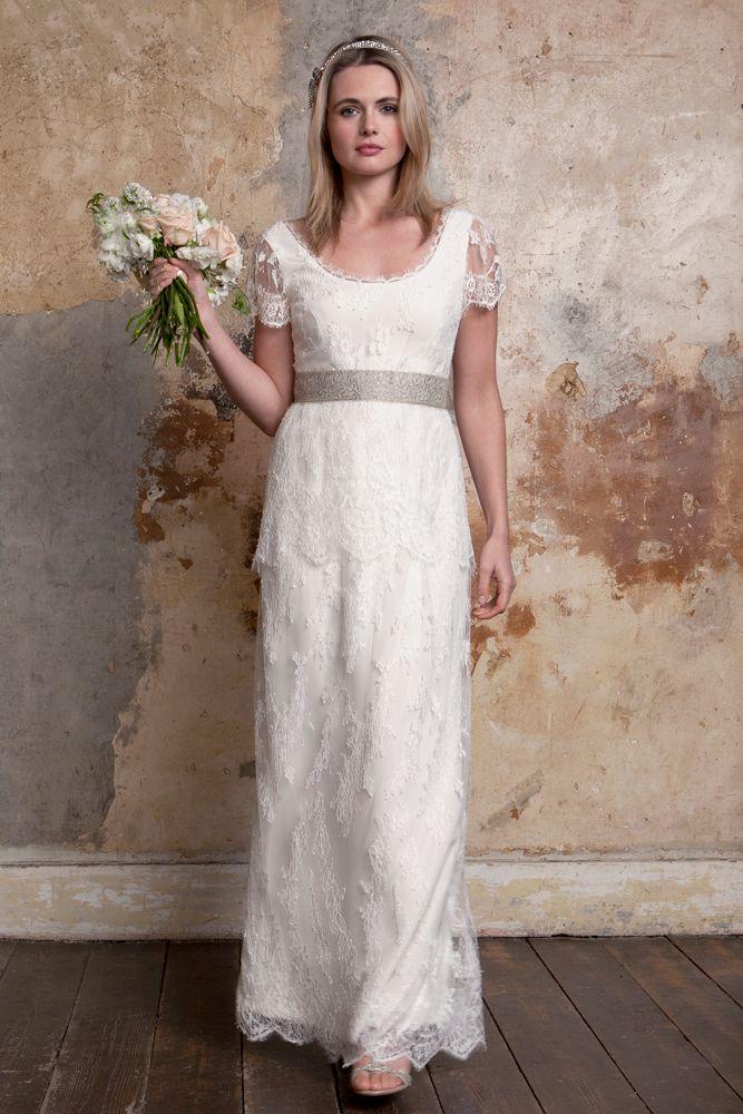 6fb885481d8 sally-lacock bea-1920s-wedding-dresses-01 Vintage Inspired Wedding Dresses