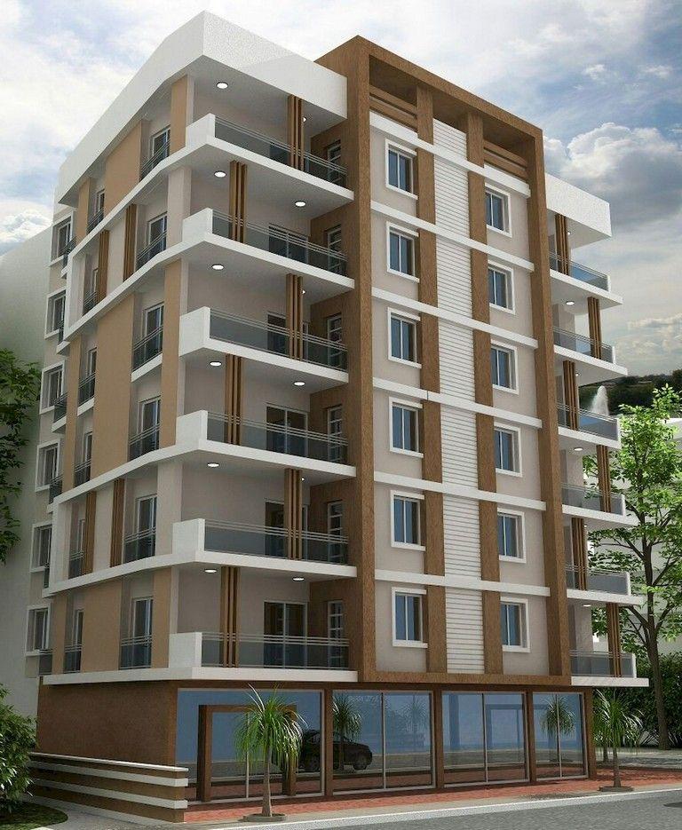 51 Awesome Modern Facade Apartment Decor Ideas Small Apartment