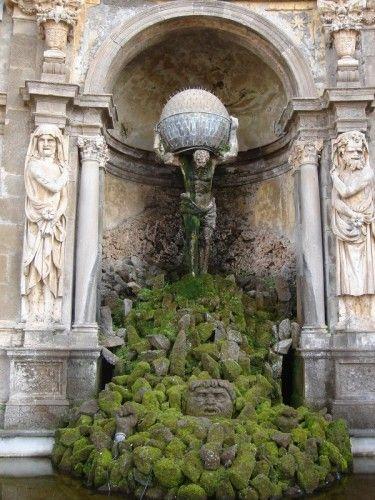 villa aldobrandini, The Theatre of Waters, (by Carlo Maderno and Orazio Olivieri) Frascati province of Rome , Lazio Italy