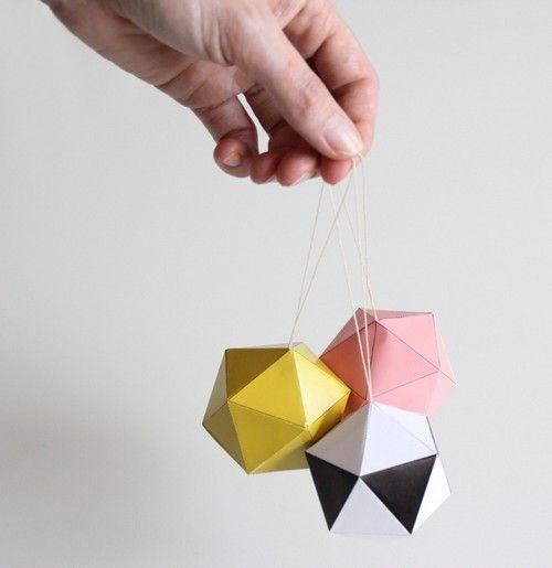 paper balls by snug pour notre dco de nol christmas diy - Decoration De Noel En Origami