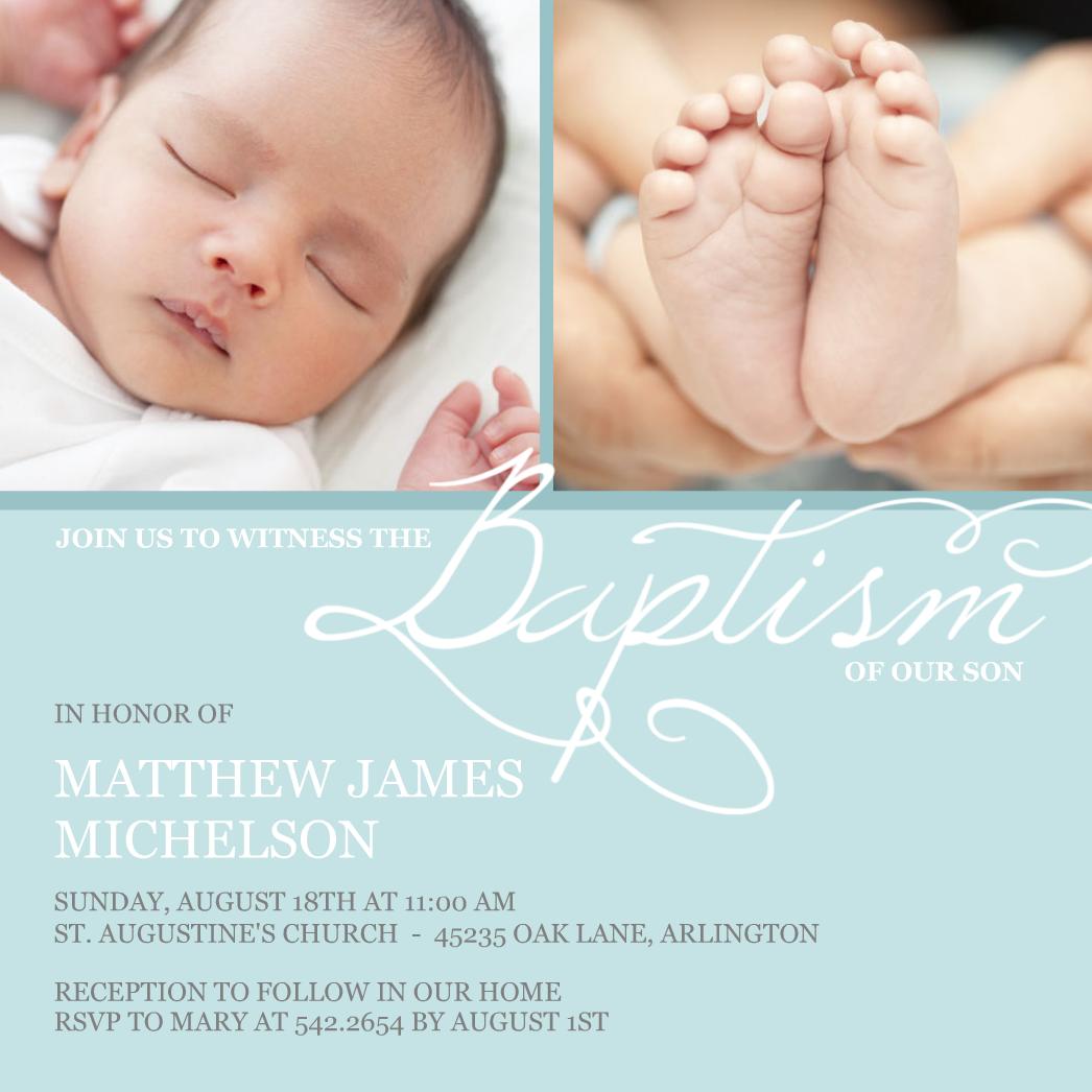 Elegant Baptism Christening invitations Baptism invitations and