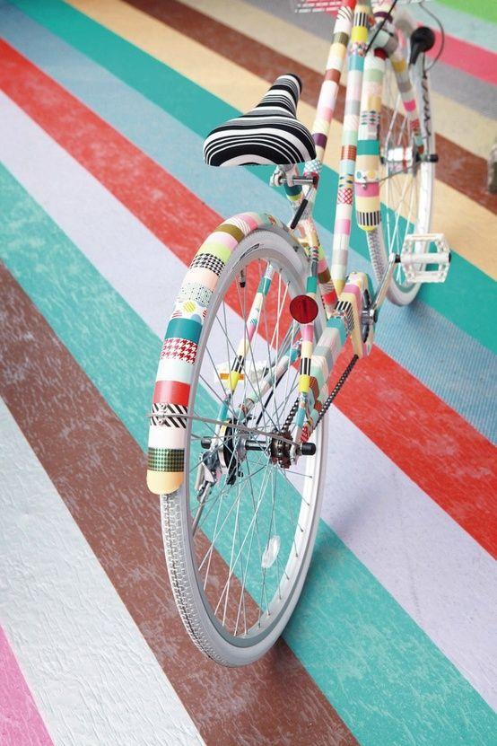 Image result for washi tape bike