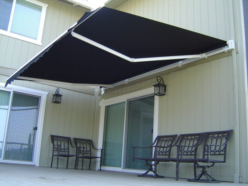 Exterior Retractable Awning Cost With 8 Ft Also Black And