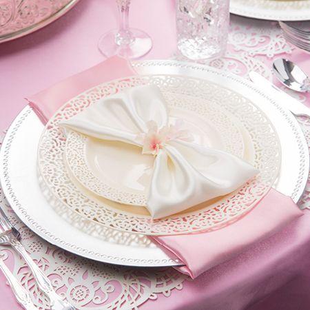1258 Lace Ivory Plastic Dinnerware Value Set · Wedding ReceptionWedding ... & 1258 Lace Ivory Plastic Dinnerware Value Set | My sweet 16 ideas ...