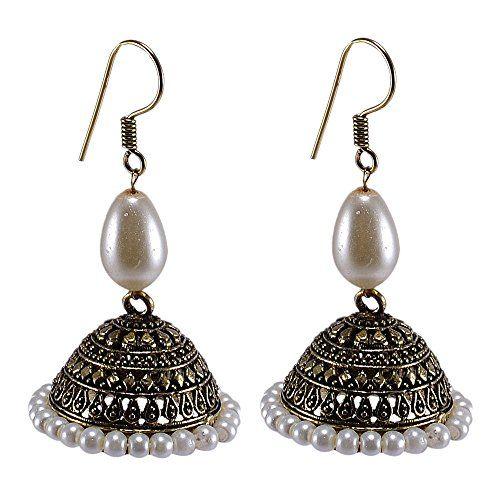 Silvesto India Pearl Beads Brass Jhumka Earring For Women... http://www.amazon.in/dp/B01G6NLC6U/ref=cm_sw_r_pi_dp_8XQrxb0CBANXD