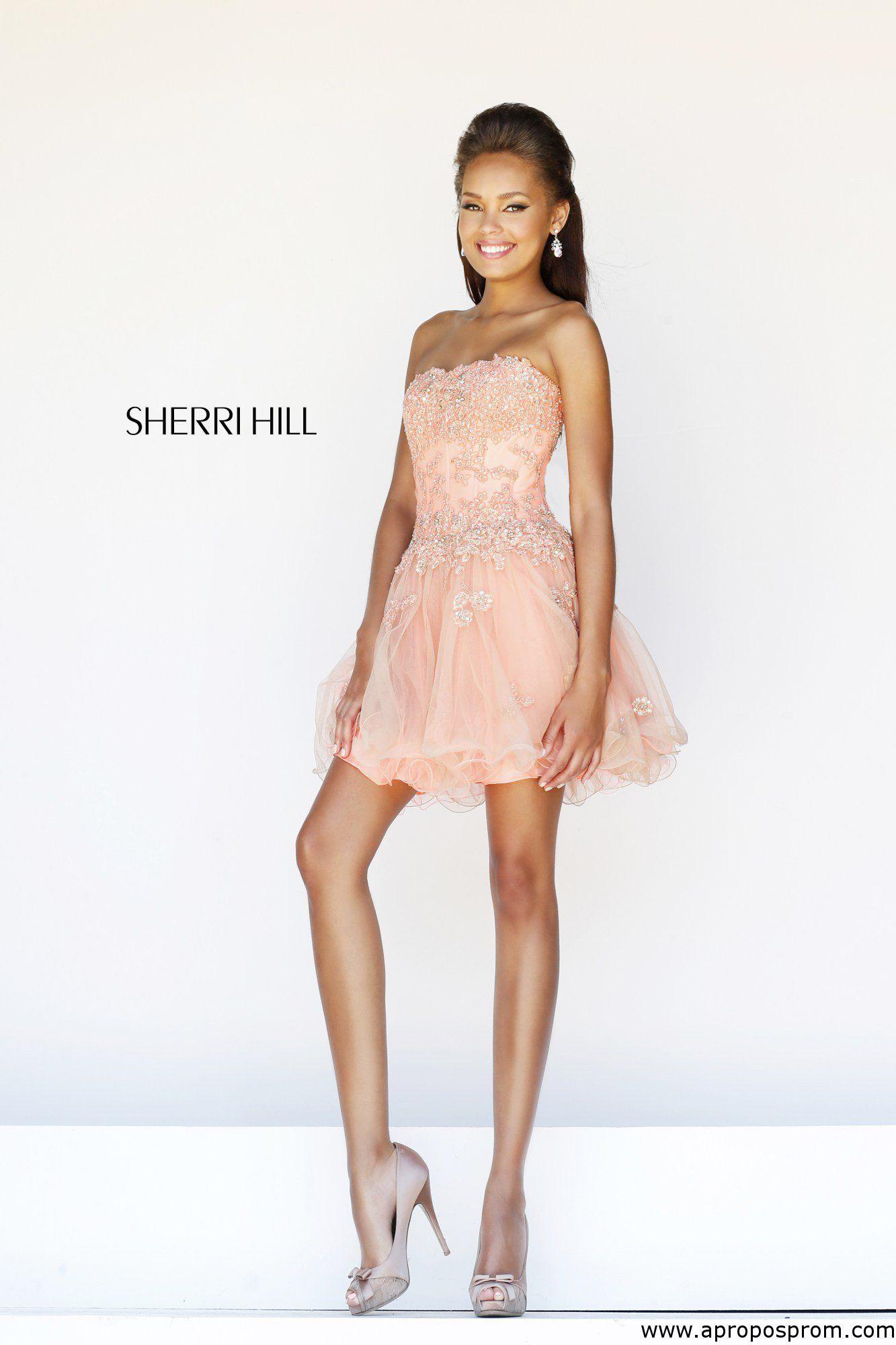 Red Glitter-Lace Short V-Neck Hoco Dress - PromGirl