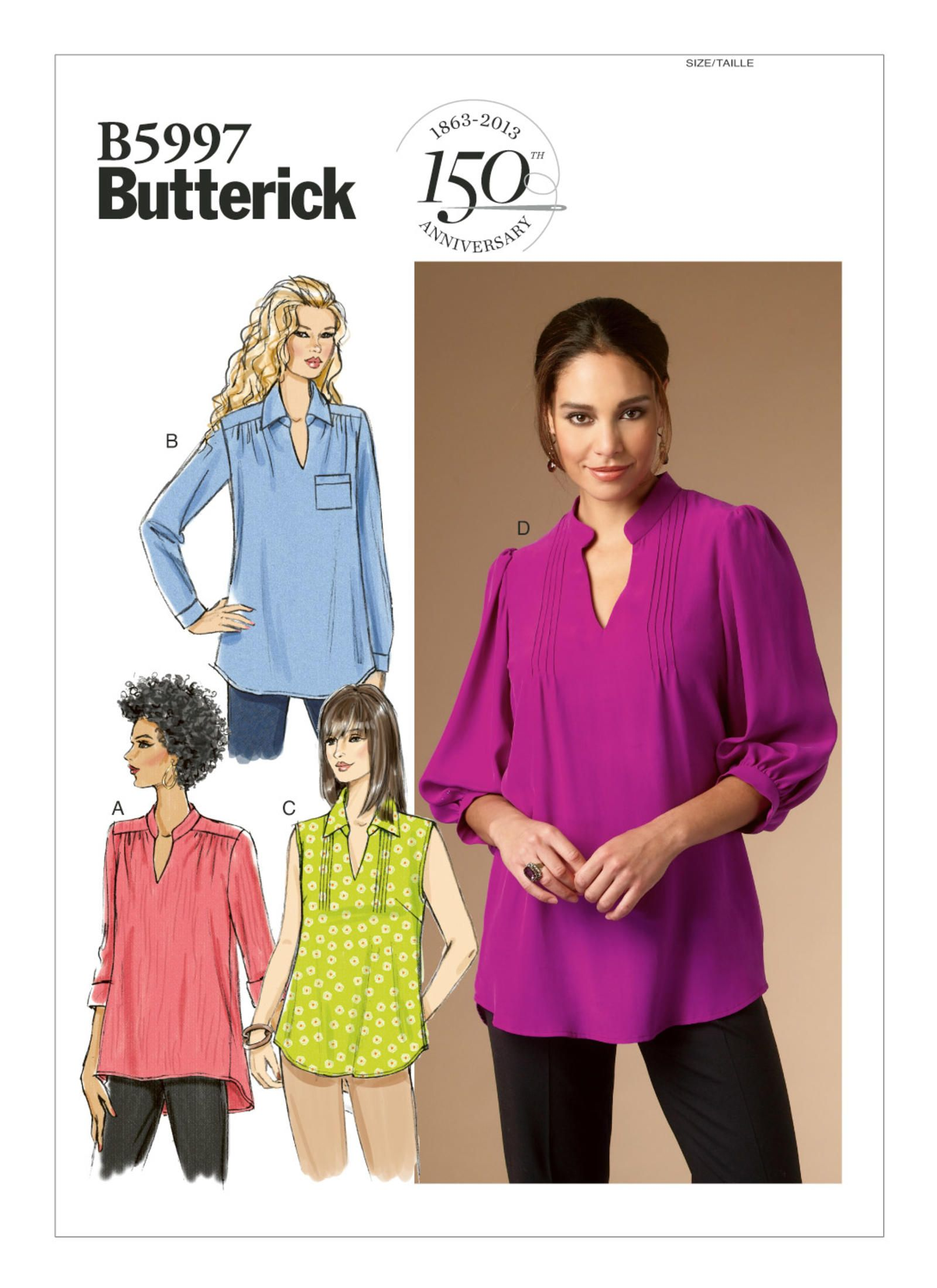B12   Butterick Patterns   Ladies tops patterns, Top sewing ...