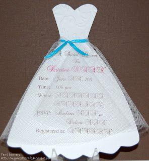 Homemade Bridal Shower Invitations Myneed2craft