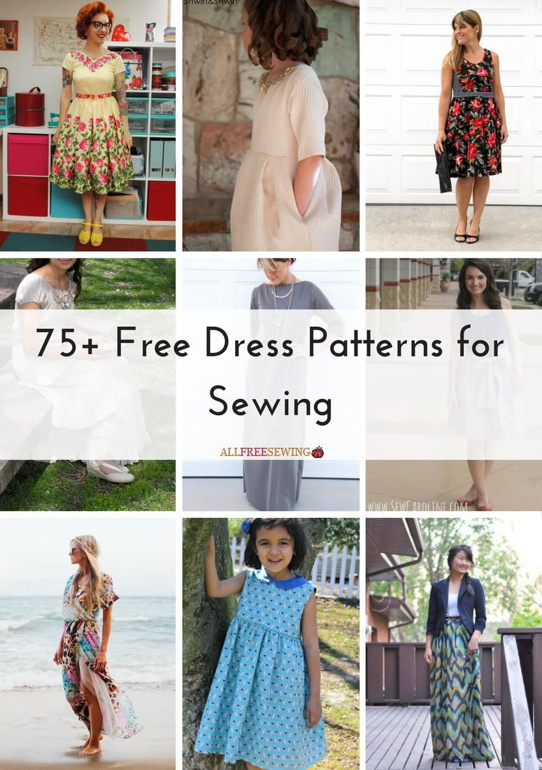 75+ Free Dress Patterns for Sewing   Patrones de costura, Costura y ...