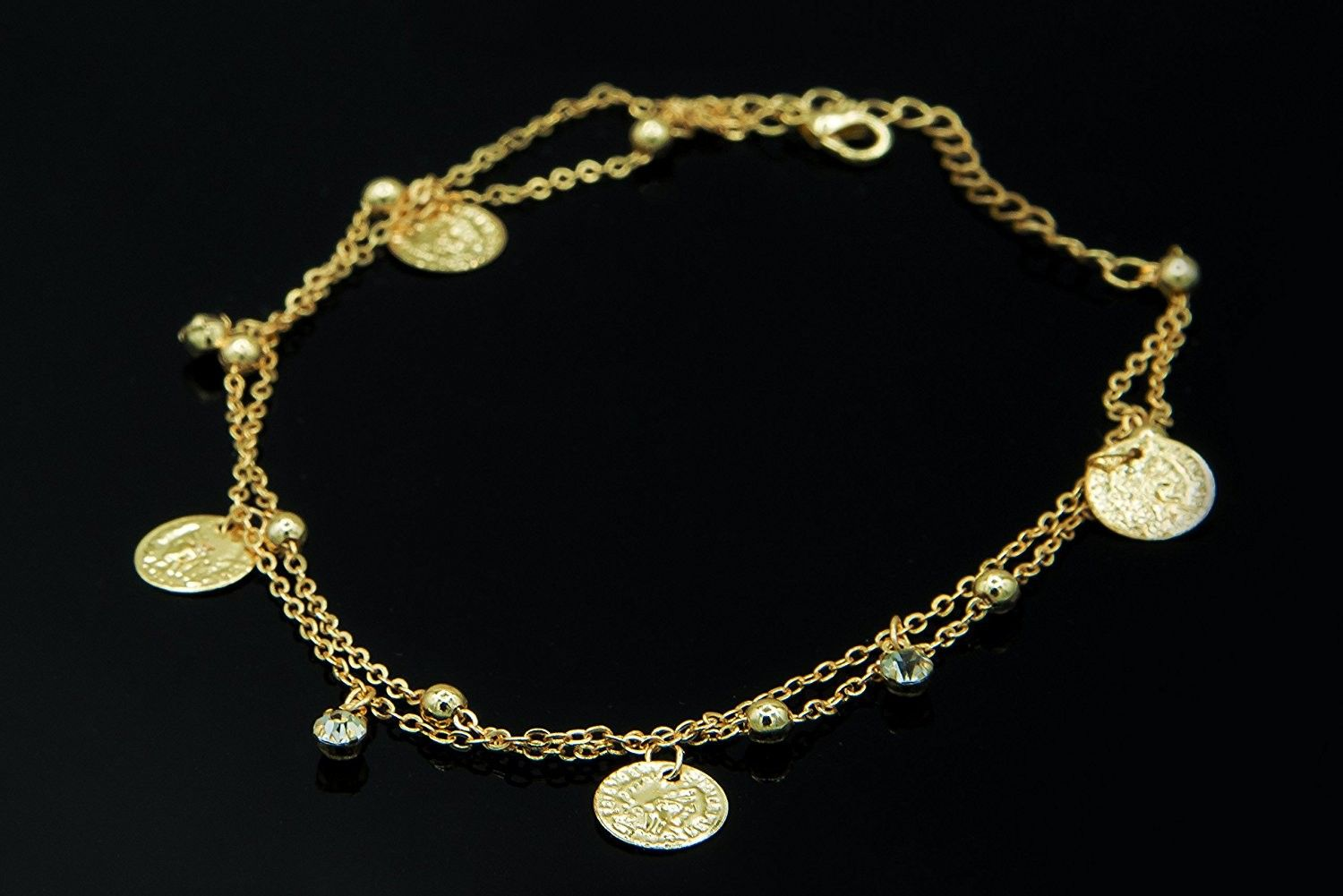 Coins fashion ankle bracelet for girls ladies women cotki