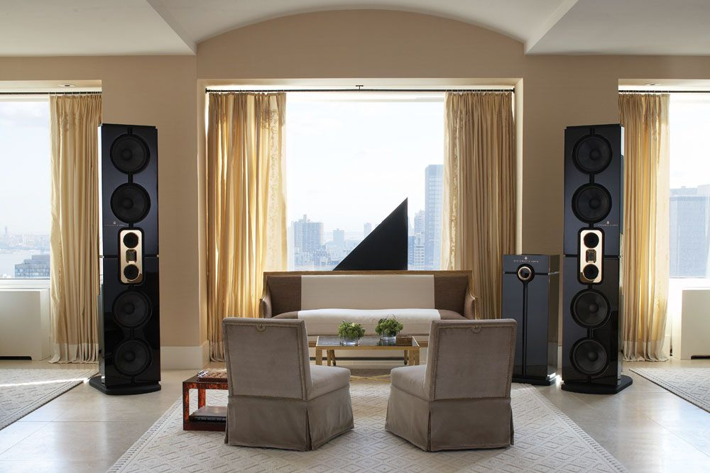Home Audio Design. Exclusive High end Simple Home Theater Designs for Entertainment by  Audio One A Frangioni Company The Steinway Lyngdorf Model D speaker system offers a commanding