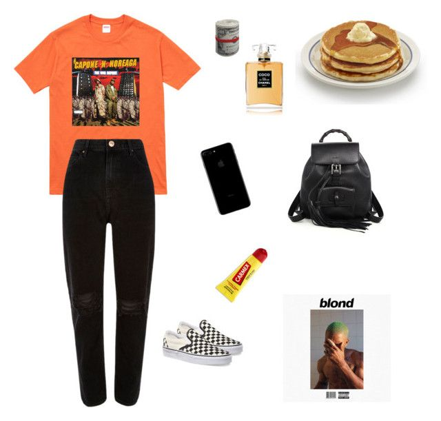 CHRISTIMEL by christimel on Polyvore featuring polyvore, fashion, style, River Island, Vans, Gucci, Paul Frank, Carmex and clothing