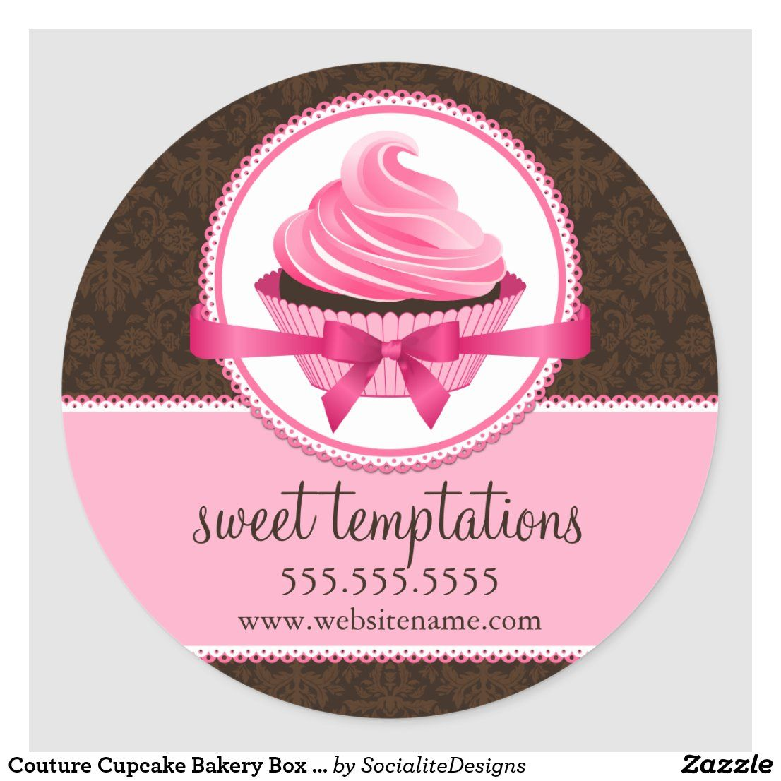 Couture Cupcake Bakery Box Seals in 2020