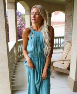 This Maghan Seafoam Green Maxi just hit our new arrivals this morning, and we are in love!! Shop it now by clicking on the picture. FREE shipping! || Bella Ella Boutique