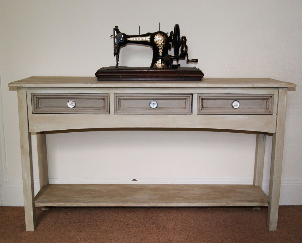 Shabby Chic French Vintage Style Console Table