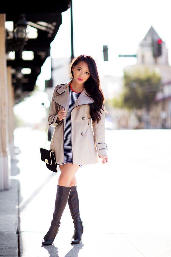 trench coat, fall fashion, petite fashion, style by alina, fashion ...