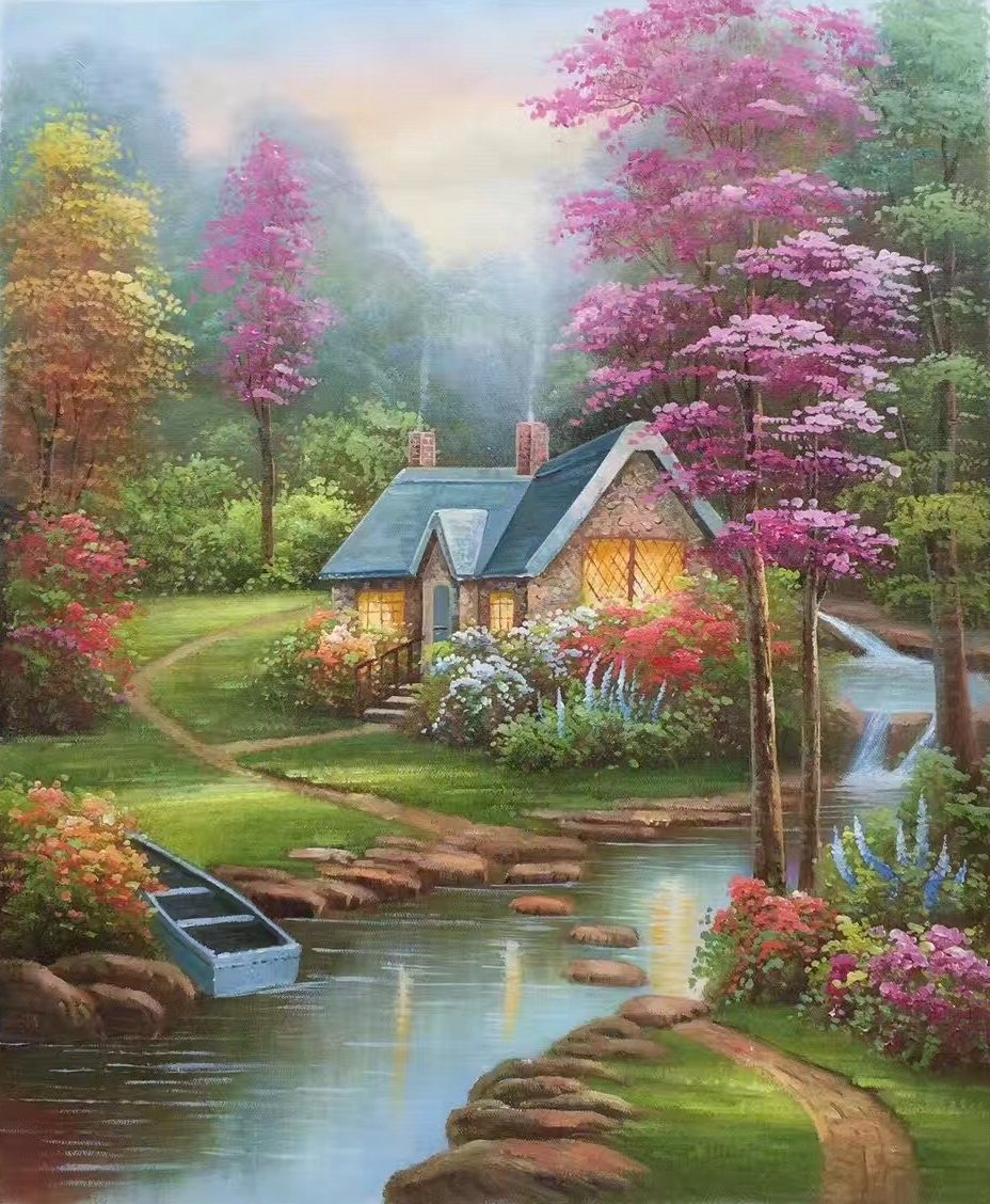 European Style Hand Painted Oil Painting On Canvas Mind Home 50x60cm 19 7 X23 6 Unframed Hermosos Paisajes Cuadros De Paisajes Pinturas Hermosas