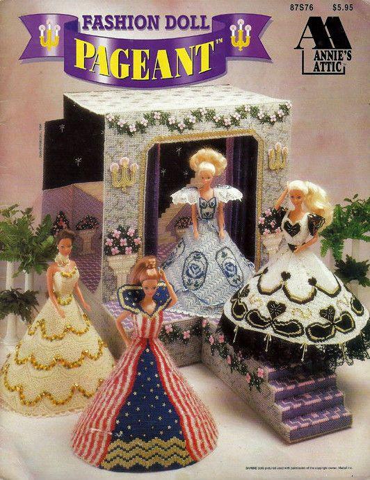 Annie's Attic 'Fashion Doll Pageant' Plastic Canvas Pattern Booklet  # 87S76 picclick.com