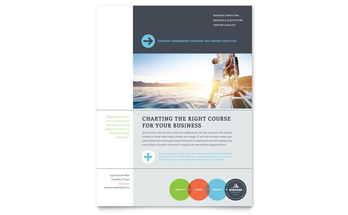 Business Analyst Flyer \ Ad InDesign Template by @StockLayouts - microsoft word template flyer