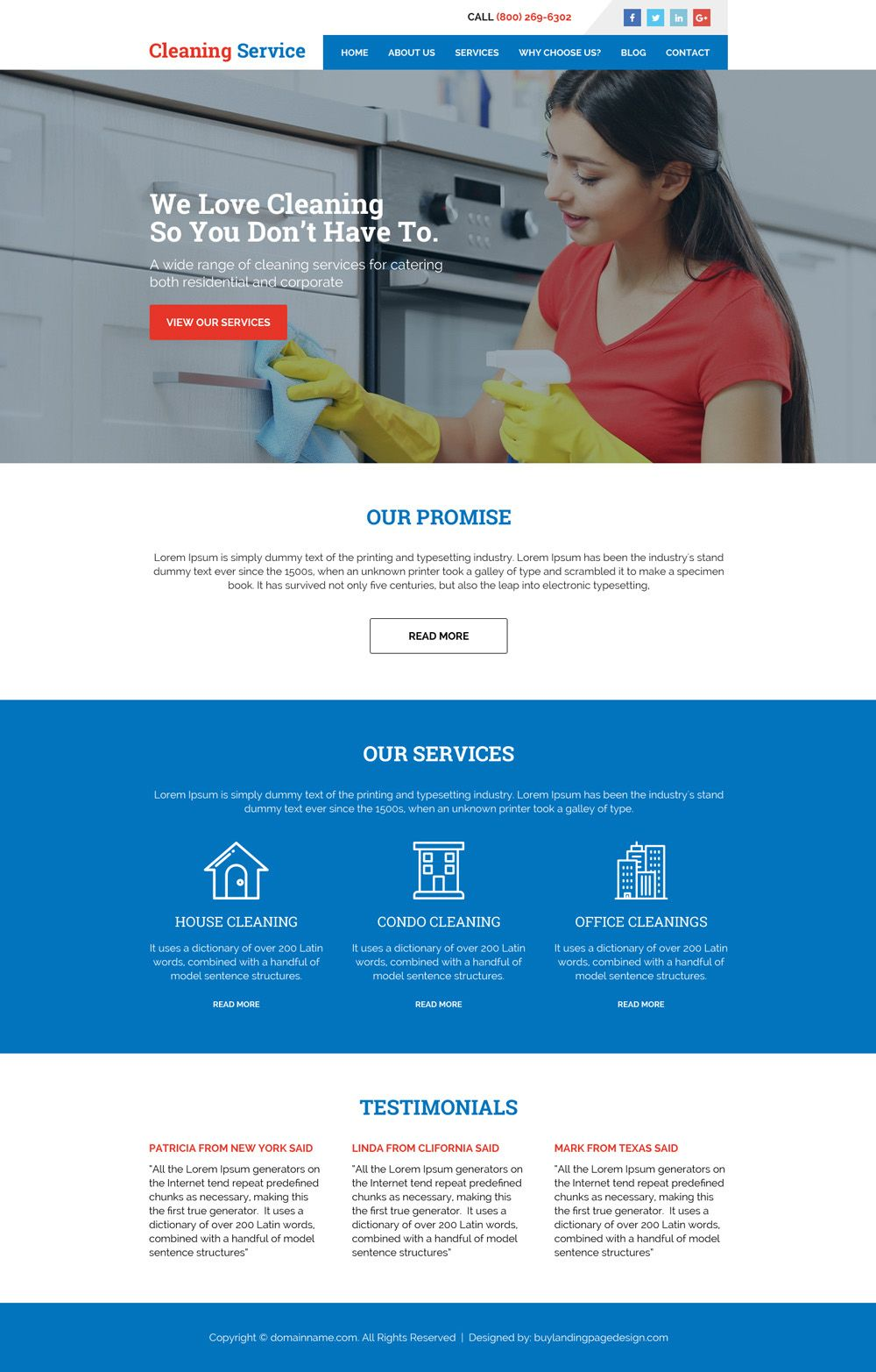cleaning services minimal website design   html website template ...