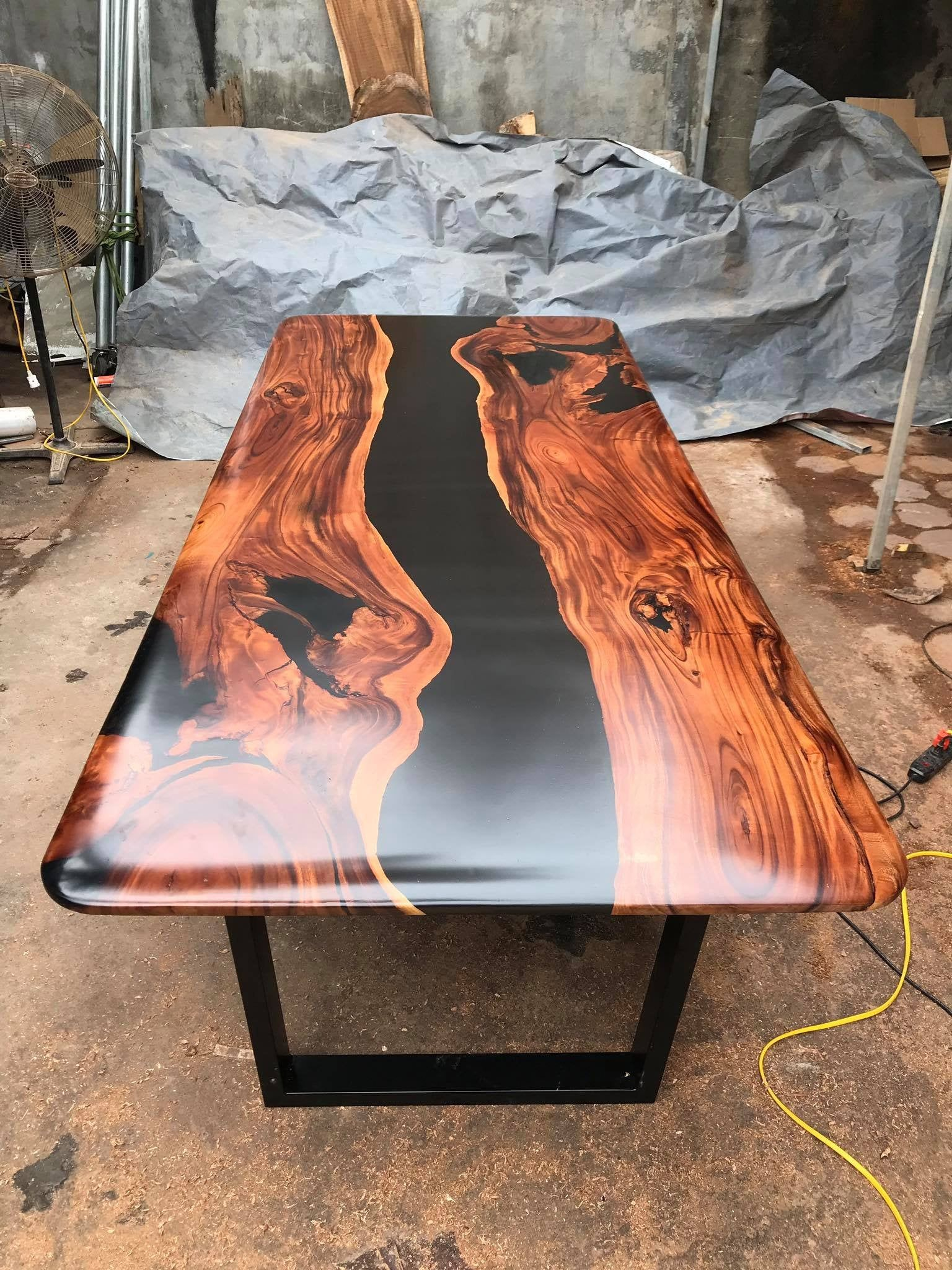 The Black River Conference Table Epoxy Table River Table